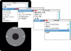 iPodでビデオ→ミュージックビデオを再生した場合。