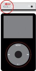 iPodの電源を入れるために【HOLD】スイッチを確認