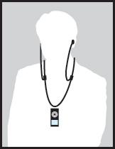 ネックレスタイプのイヤホンコード、...