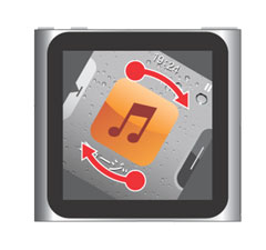 iPod nano[第6世代]の画面を回転させて向きを変える