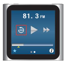 iPod nano [第6世代] [30]アイコンで30秒前に巻き戻し