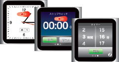 時計→ストップウォッチ→タイマーをフリックで切り替えます。