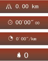 「ランニング距離」「ランニング時間」「1kmあたりの所要時間」「消費カロリー」