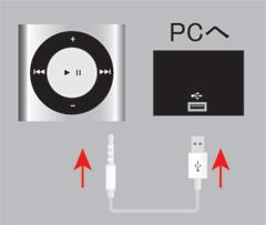 iPod shuffle[第4世代]とPC(iTunes)を接続