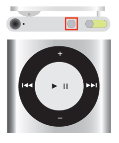 iPod shuffle 第4世代 Voice Overボタン
