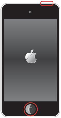 iPod touchの強制再起動でAppleロゴ表示される