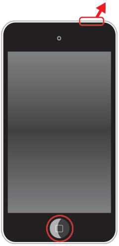 画面が黒くなってから2~3秒後に、上部のスリープボタンだけを離す
